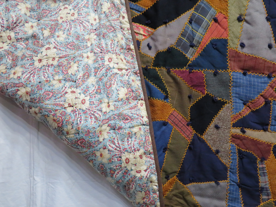 Q9037 Wool And Wool Challis Victorian Crazy Quilt With