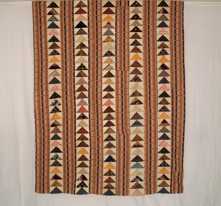 CON PJ8 Flying Geese with Bars Quilt Top