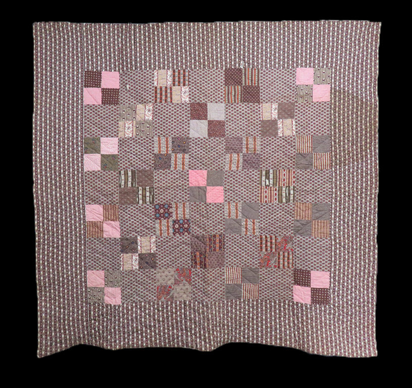 Q9100 Early 19th Century Four Patch Quilt