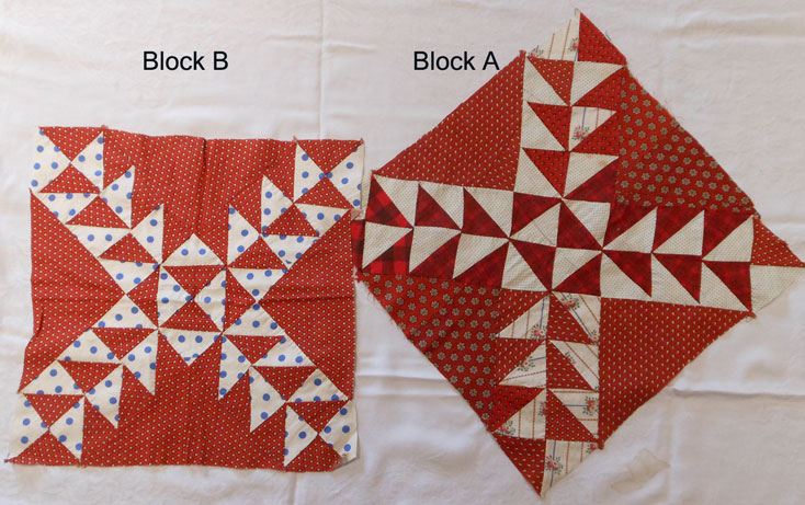 QB28 Flying Geese Variation Quilt Blocks