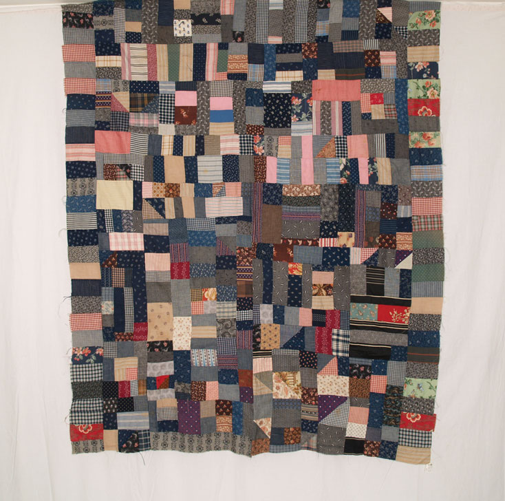 QT278 Bars & Blocks Quilt Top