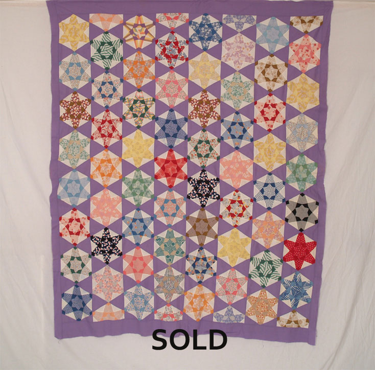 QT 304 Star Quilt Top
