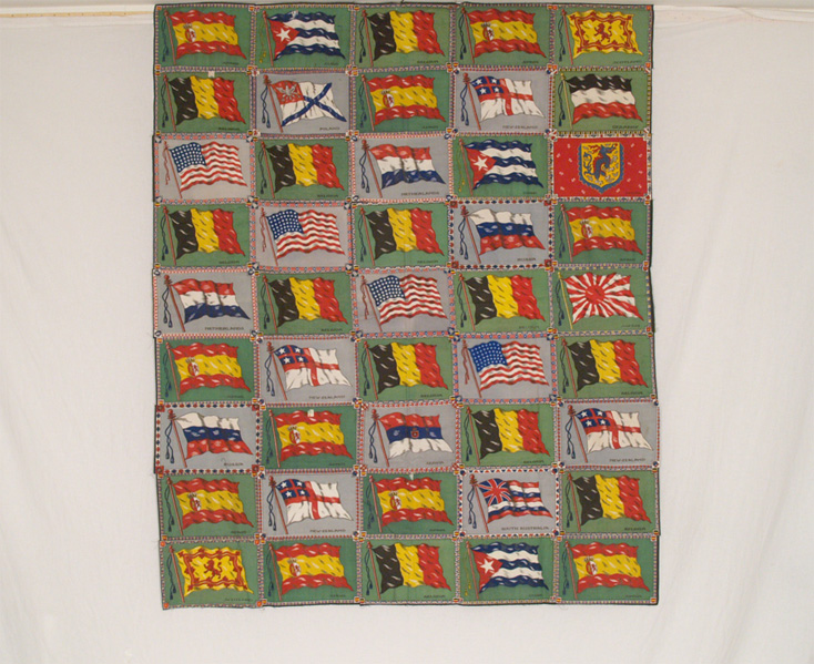 QT800 Tobacco Flannels Quilt Top - Country Flags