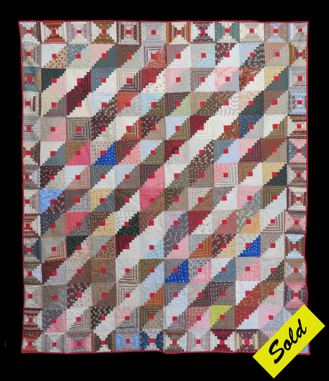 American Antique Log Cabin Quilts Betsey Telford Goodwin S Rocky Mountain Antique Quilts