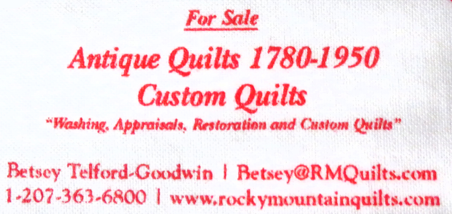 Image of the Rocky Mountain Quilts Label inset.