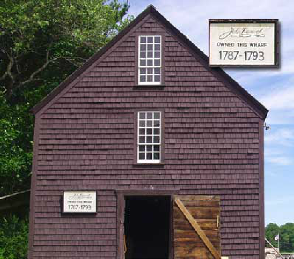 An image of a warehouse used by John Hancock, in York, Maine.